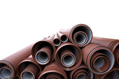 Close up of a stack of pipes Royalty Free Stock Image