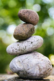 Close up of a stack of stones in balance royalty free stock images