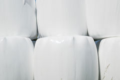 Close up of stack with straw bales Royalty Free Stock Photography