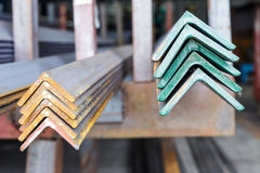 Close up stacked of angle steel Royalty Free Stock Photos