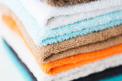 Close up of stacked bath towels Royalty Free Stock Photography