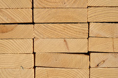 Close-up of Stacked Lumber Royalty Free Stock Image