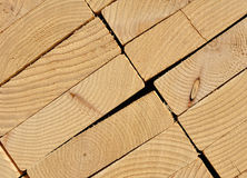 Close-up of Stacked Lumber Royalty Free Stock Images