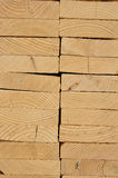 Close-up of Stacked Lumber Stock Photography