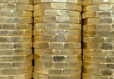 Stacks of UK Pounds Stock Photography
