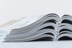 Close up stacking of magazine stock photography