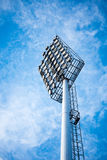 Close up of stadium lights with blue sky background Stock Photography