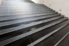 Close up and stairs. Close up and details of stairs of a modern building Royalty Free Stock Image