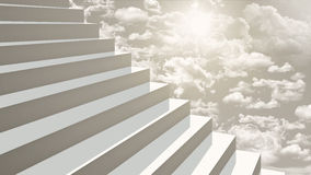Close-up stairs going up to heaven in diagonal perspective Royalty Free Stock Image