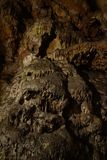 Close up of stalagmite in cave stock image