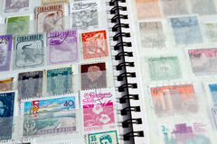 Close-up of stamp album royalty free stock photography