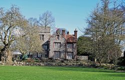 Close up of a Stately home in its magnificent gardens royalty free stock images