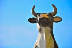 Close-up of a statue of a cow Stock Photos