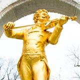 Close up statue of Johann Strauss,  Stadtpark in Vienna, Austria Royalty Free Stock Image