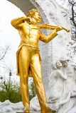 Close up statue of Johann Strauss,  Stadtpark in Vienna, Austria Stock Photos