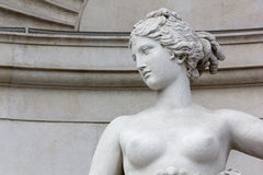 Close-up of the Statue of Venus on the Lloyd Palace in Trieste Stock Images