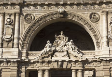 Close up of the statues on the doorway of Italian Corte di Cassazione Stock Image