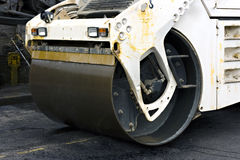 Close up of a steam road roller Royalty Free Stock Photography