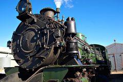 Close up of steam train Stock Photo