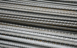 Close up of steel cables. Close up of rows of steel cables, industrial scene Royalty Free Stock Image