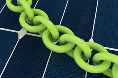 Close up of steel chain links Stock Photo