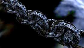 Close up of steel chain links Royalty Free Stock Image