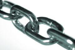 Close up of steel chain links Stock Image
