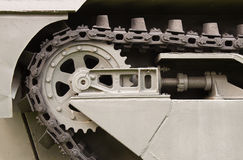 Close up steel chain of tank wheel Stock Images