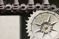 Close up steel chain of tank wheel Royalty Free Stock Images