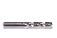 Close up steel drill bit isolated on white Stock Photo