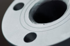 Close-up of steel flange Stock Photos