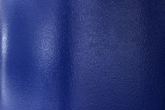 Close up of steel pipe, painted blue. royalty free stock photography