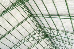 The steel roof of factory. Close up The steel roof of factory royalty free stock image