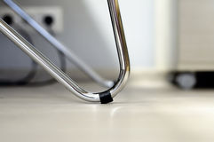 Close-up of steel table leg royalty free stock image