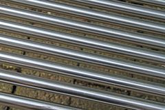 Close up of steel tubes Royalty Free Stock Photo