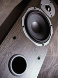 Close-Up Of Stereo Speaker. Low angle view. Shallow depth of field Stock Photography
