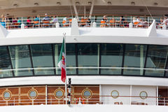 Close-up on the Stern of a Cruise Ship Royalty Free Stock Photography