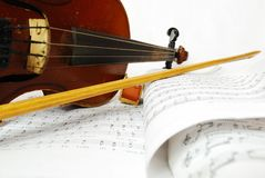 Close-up still life simple violin Stock Images