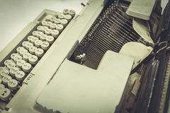 Close up still life typewriter on table. And sunlight Royalty Free Stock Image