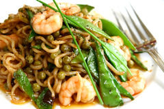 Close up of stir fried noodles Stock Photography