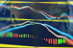 Close up stock chart, Elements of this image furnished by NASA Stock Photo