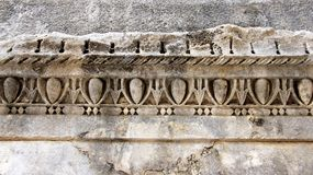Close Up Of Stone Carving. Local art and culture. ancient place in Croatian Stock Photos