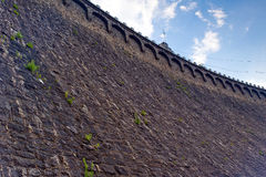 Close up on stone dam wall in Pilchowice Stock Photo