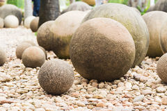 Close up Stone in Japanese garden Stock Images