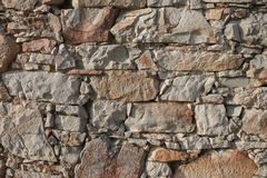 Close up on stone rock background or texture Royalty Free Stock Images