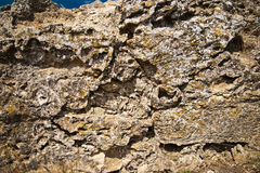 Close-up of stone wall Royalty Free Stock Photos