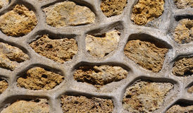 Close up Stone Wall Stock Image