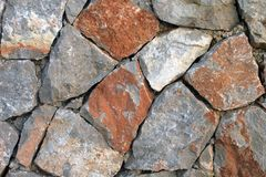Close up of stone wall royalty free stock photos
