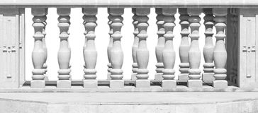 Close Up of Stone White Baluster With clipping path. Stock Photos