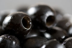 Close up of stoned black olives Stock Photography